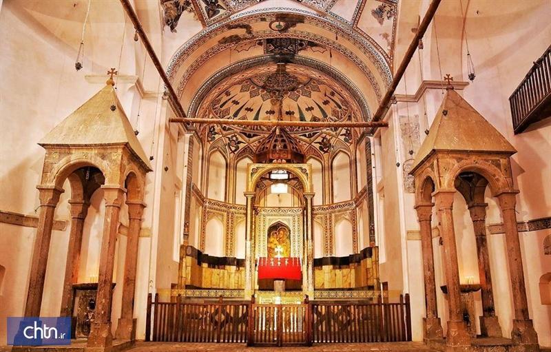 نقش و نگارهای کلیسای سنت استپانوس جلفا مرمت شد