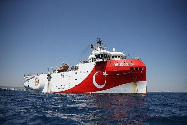 ترکیه عملیات کِشتی اوروچ رئیس در مدیترانه را تمدید کرد
